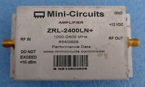 Mini circuits Zrl 2400ln 1000 2400mhz Sma Low Noise Amplifier