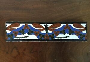 Aesthetic Movement Ceramic Tile Mensaque Rodriguez Y Cia Dragon Fly