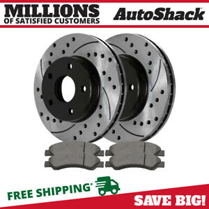 Front 2 Performance Rotors 4 Ceramic Brake Pad For 2011 2014 Ram 1500 5 Stud
