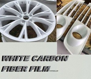 White Carbon Fiber Hydrographics Film Water Transfer Printing 0 5x20m Pva