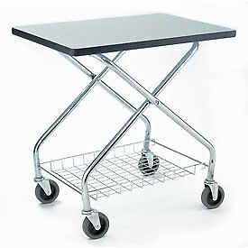 Global Industrial 912110 Fold And Store Service Cart 350 Lb Capacity