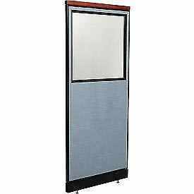 Interion Deluxe Office Cubicle Panel With Partial Window Raceway 24 1 4 w X
