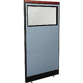 Interion Deluxe Office Cubicle Panel With Partial Window Raceway 36 1 4 w X