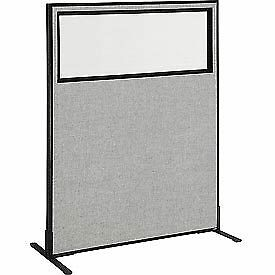 Interion 8482 Freestanding Office Cubicle Panel With Partial Window 48 1 4 w