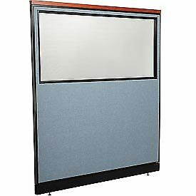 Interion Deluxe Office Cubicle Panel With Partial Window Raceway 60 1 4 w X
