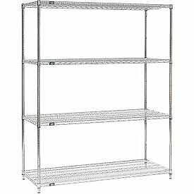 Global Industrial 24608ss Nexel Stainless Steel Wire Shelving 60 w X 24 d X 86 h
