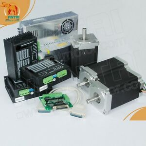 usa Ship 3 Axis Nema 34 Stepper Motor 1090oz in 5 6a 80v Cnc Form Mill Cut