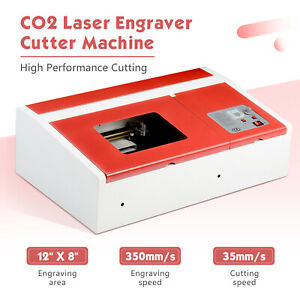 12 x8 Co2 Laser Engraving Cutting Machine Commercial Engraver Cutter 40w Usb