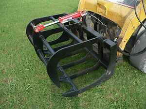 Bobcat Skid Steer Attachment 48 Root Rake Grapple Bucket Free Shipping