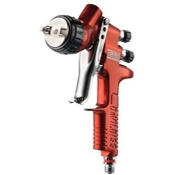 Devilbiss 703661 Tekna Copper Gravity Feed Spray Gun With 1 3 And 1 4 Needle