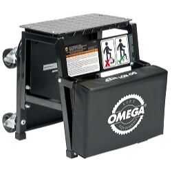 Omega 91305 2 n 1 Mechanics Creeper Seat step Stool