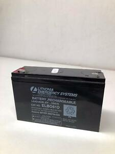 Lithonia Emergency Systems Battery Rechargable Elb0610 6v 10a h