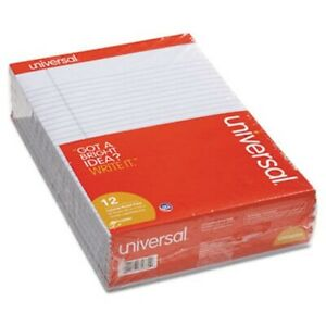 Universal Perforated Note Pads 8 1 2 X 11 Orchid 50 sheet Dozen unv35884