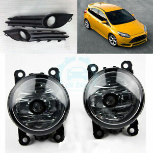 Car Front Bumper Foglights Cover Fog Lamps Parts Fit For Ford Focus St 2012 2013