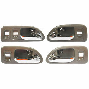 For 1994 1997 Honda Accord Inside Door Handle Brown Front Rear Set 4 Dh53