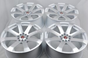 4 New Ddr I10 17x7 5 5x100 114 3 38mm White Machined Face Wheels Rims