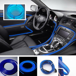 5m 12v El Wire Blue Cold Light Neon Car Atmosphere Unique Decor For Chevrolet