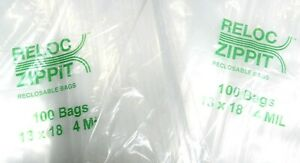 13x18 Ziplock Bags 300 Bags 4 Mil Clear Poly Reclosable Large Jumbo Size13 x18