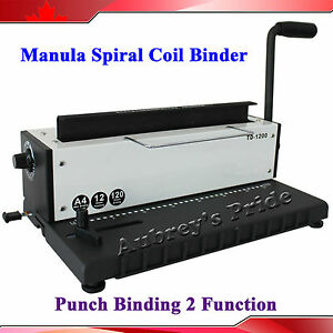 Binder Puncher All Steel Metal Spiral Coil 34holes Punching Binding Canada