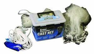 Fitec Super Spreader Clear Fishing Cast Net 3 16 inch X 5 feet