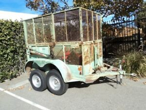 7 X 12ft Heavy Duty Animal Pig Farm Livestock Utility Caged Trailer With Lift