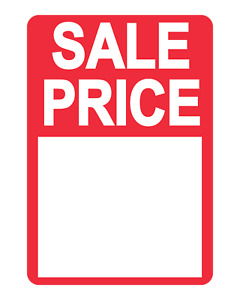 Bright Red On Roll Sale Price Stickers Labels For Use With Thermal Printers