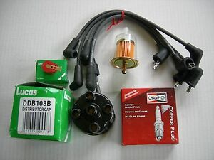 Mg Mgb Tune Up Kit Plug Wires Spark Plugs Lucas Distributor Cap Rotor 77 8