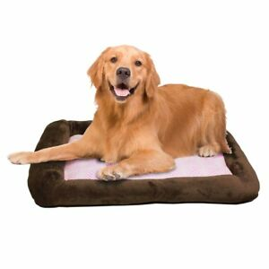 Teafco Otto Memory Foam Bed With Heat Relief Padding Brown Large