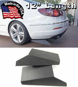 Abs 12 Rear Bumper Lip Apron Splitter Diffuser Valence Skirts For Vw Porsche
