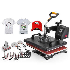 8 In 1 T shirt Heat Press Machine Latte Mug Coaster Cup Sublimation Printing