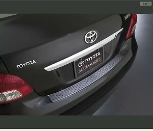 2007 2011 Yaris 4dr Sedan Rear Bumper Protector Genuine Toyota Accessory