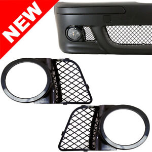 98 03 Bmw E39 M5 Fog Light Mesh Covers Replacement Gloss Black Abs Right left