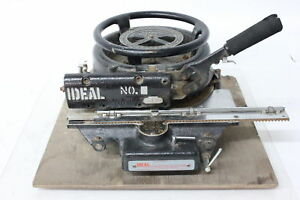Vintage Ideal No 9 Stencil Machine With Wooden Station nice Unit