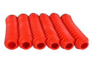 6 Red Shock Boots Fits Most Shocks For Jeep Universal Off Road Vehicles