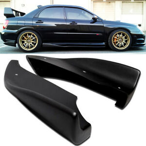 For 05 07 Wrx Sti Cs Style Bottom Line Side Aprons Cap Spoiler Rear Bumper Lip