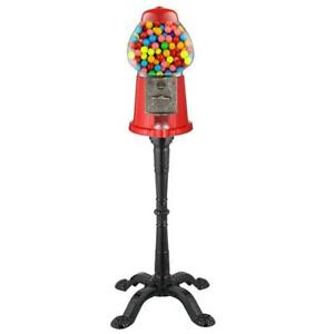 Candy Gumball Machine Bank With Stand 15 In Vintage Decorative Accessory Sturdy