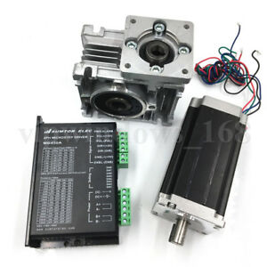 L112mm Stepper Motor 4 2a Nema23 Worm Gear Box Speed Reducer stepper Driver Kit