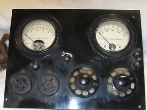 Excellent Vintage Tube Tester Tests Those Early Tubes