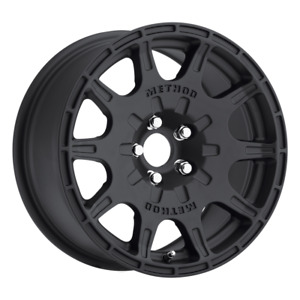 Set 4 15x7 15 5x100 Method Mr502 Vt spec Black Wheels rims 15 inch 59152