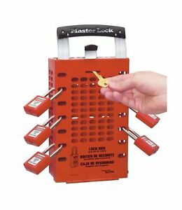 Master Lock Group Lock Box 10 American Lock Pad Locks Red 2 Keys