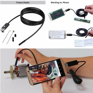 10m 7mm Car Hd Endoscope Borescope Usb Inspection Camera Android Pc Waterproof