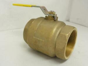 161656 Old stock Milwaukee Ba 100 a 300 Inline Bronze Ball Valve 3 Fnpt 600wo