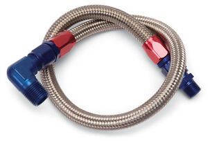 Edelbrock 8127 Stainless Steel Braided Fuel Lines 27 Inch