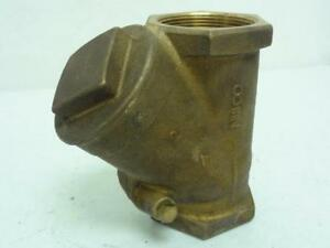156420 Old stock Nibco T473y 2 Check Valve Bronze 2 Fnpt