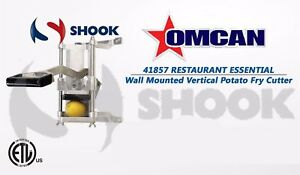 Omcan 41857 Commercial Restaurant Wall Mounted Vertical Potato Fry Cutter