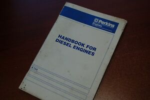 Perkins Engine 4 154 Handbook Owner Parts Maintenance Manual Book Diesel Lube