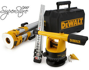 Dewalt Dw090pk 20x Builder s Level Package With Tripod And Rod