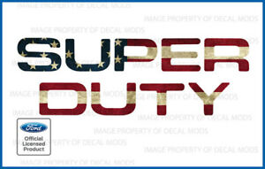2008 2016 F250 Super Duty Tailgate Letters Decals Stickers American Flag Worn