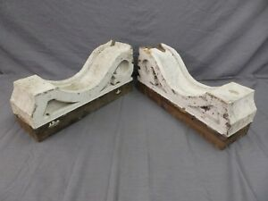 Large Pair Antique Corbels Roof Brackets Victorian Shabby Shelf Vtg Chic 505 17p