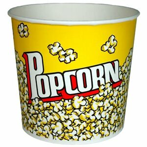 Paragon 50 Count Popcorn Bucket Tub 85 Ounce Home Theatre Free Shipping